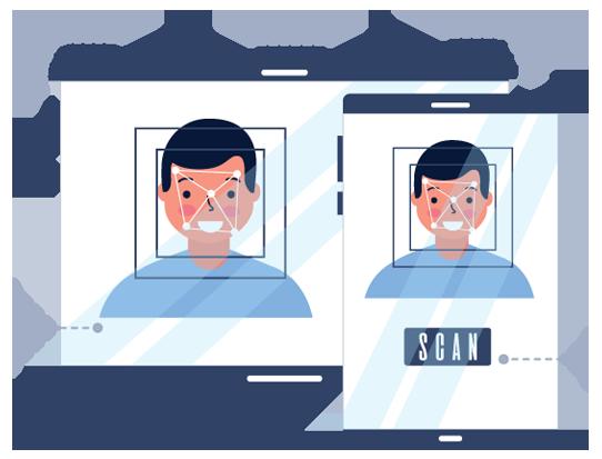 server-side facial authentication
